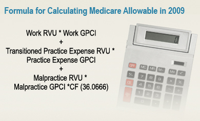 Formula for Calculating Medicare Physician Amount